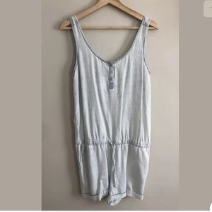 Cloth and Stone Womens Sleeveless V Back jumpsuit